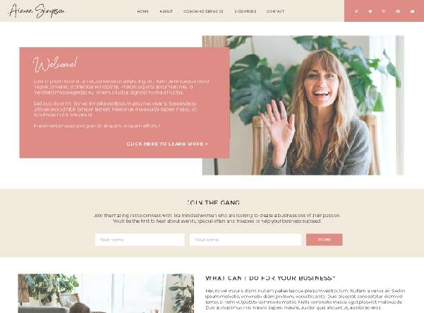 Web Design for Female Entrepreneurs, Branding Design in Colchester