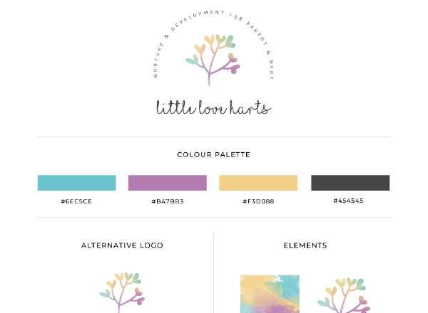 Little Love Harts Branding Design, Branding for Female Entrepreneurs, Branding for Baby Massage, Branding Design in Colchester, Branding and Website Design