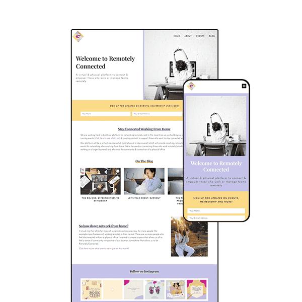 Membership Platform Website Design